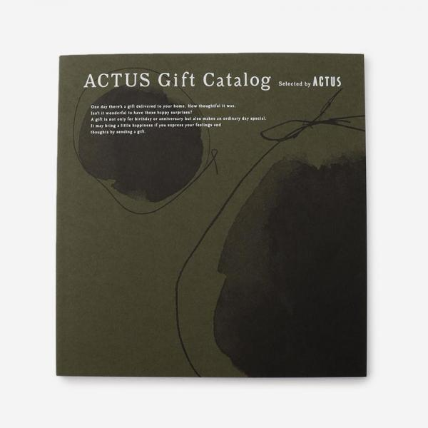 ACTUSギフトカタログ M_G/モスグリーン(リボン)
