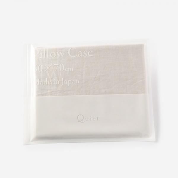 Quiet HALF&HALF ピローケース 50×70 FOG WHITE