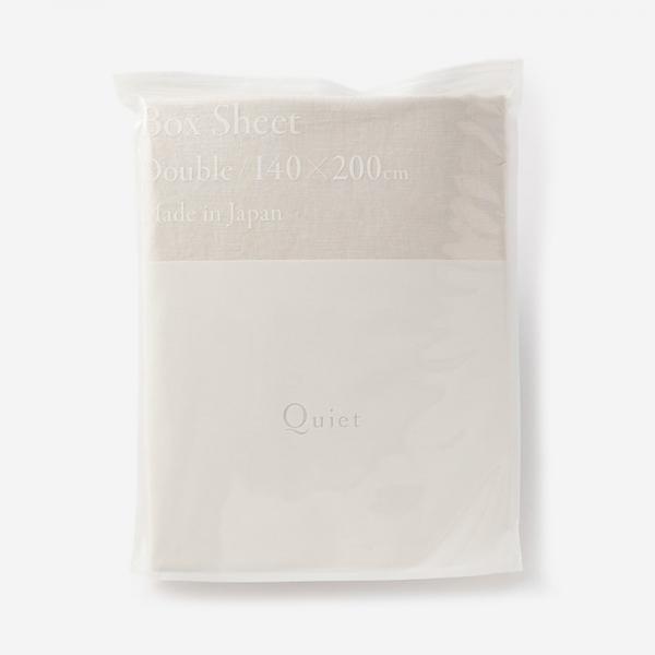 WASH LINEN フィットシーツ(ダブル) 140×200×32 FOG WHITE
