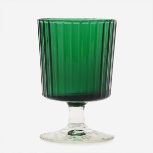HAND MADE GLASS ワイン グリーン