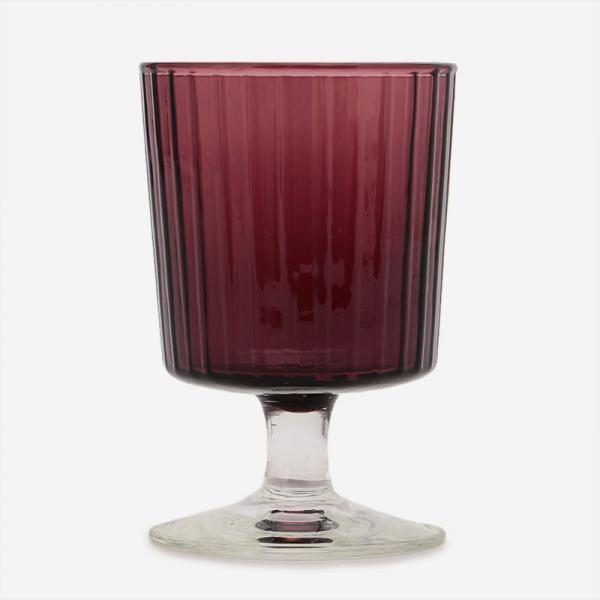 HAND MADE GLASS ワイン パープル