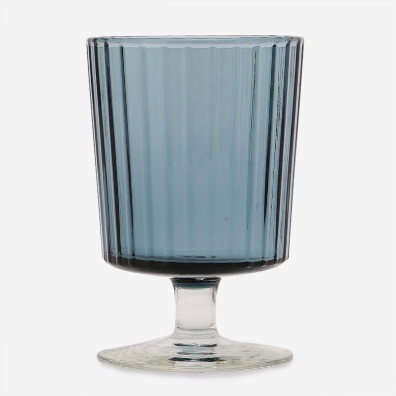 HAND MADE GLASS ワイン ブルーグレー