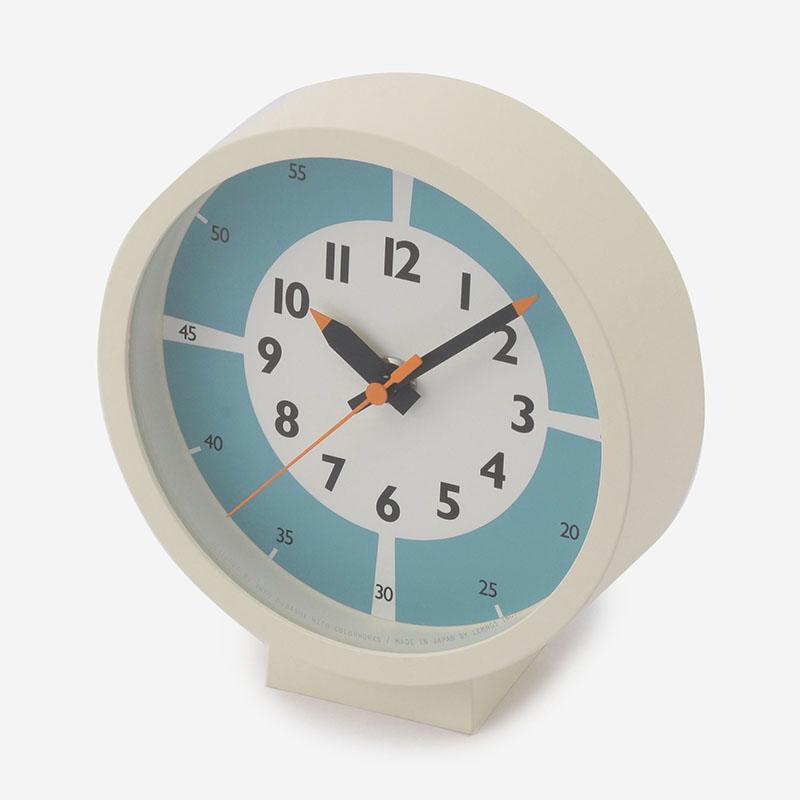 fun pun clock for table R15cm ライトブルー