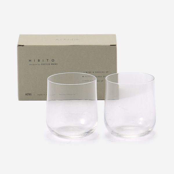 HIBITO GIFT SET WATER GLASS 2P