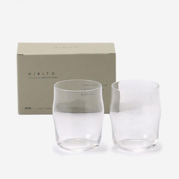 HIBITO GIFT SET BEER GLASS 2P