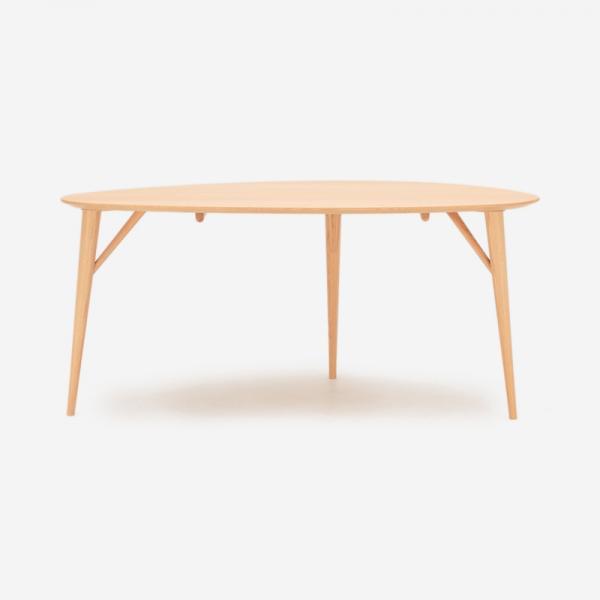 【受注生産品 納期約40日】KULAUM ダイニングテーブル オークFNR W160