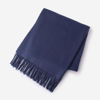 eauk WOOL STOLE 75×180 CROWN BLUE