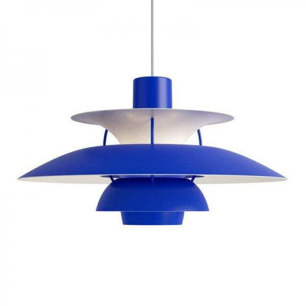 Louis Poulsen PH5 PENDANT MONOCHROME BLUE