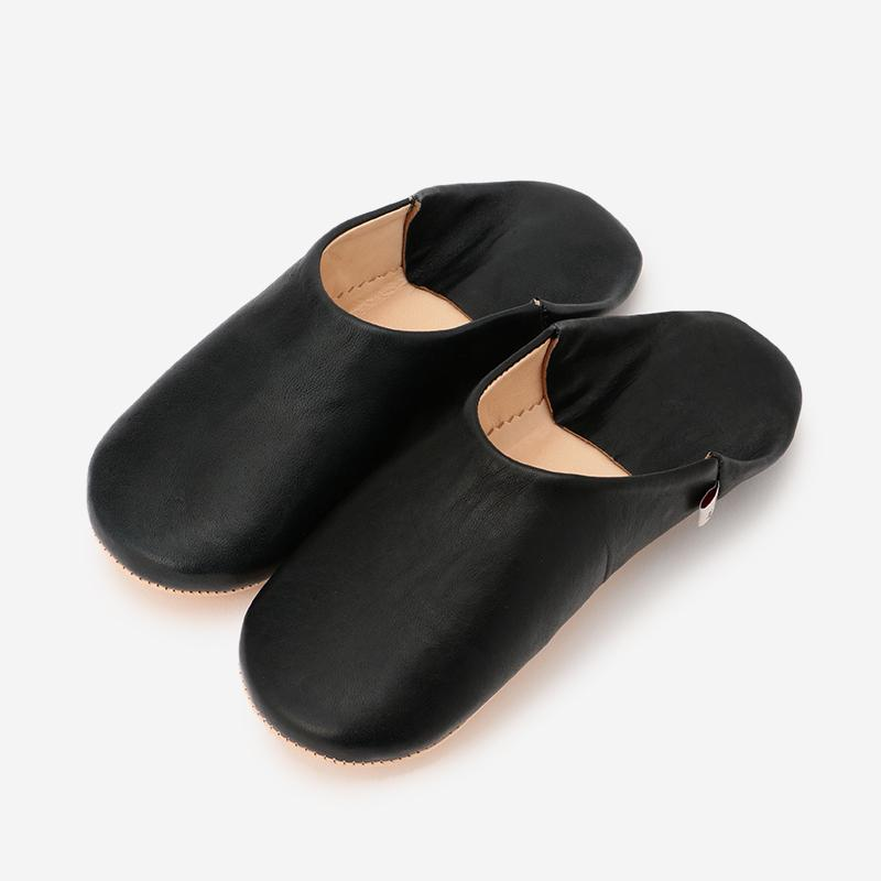 シンプルバブーシュ 3Lサイズ ブラック