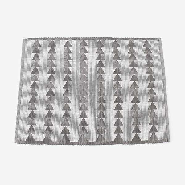 リブ織り プレイスマット002 45×32cm チャコールグレー