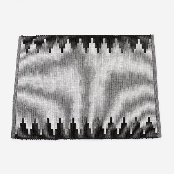 リブ織り プレイスマット004 45×32cm ブラック
