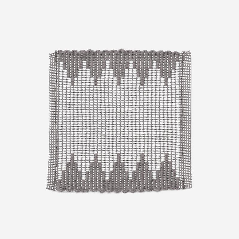 リブ織り コースター003 10×10cm チャコールグレー