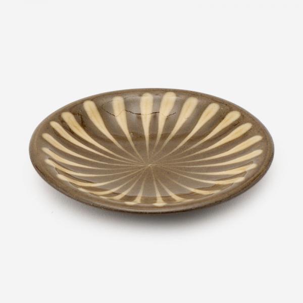 美濃焼 正陶苑 スリップウェア 小皿 ハナ