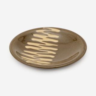 美濃焼 正陶苑 スリップウェア 小皿 ボーダー