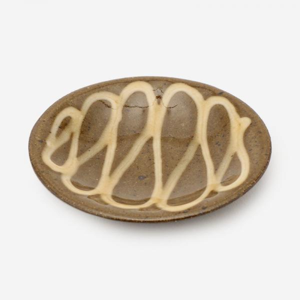 美濃焼 正陶苑 スリップウェア 小皿 ループ