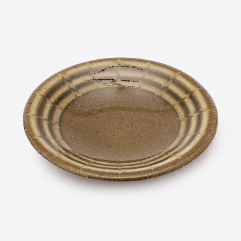 美濃焼 正陶苑 スリップウェア 小皿 マーブル