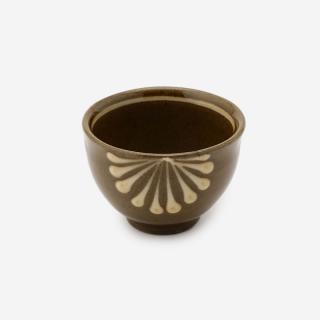美濃焼 正陶苑 スリップウェア 湯呑 ハナ