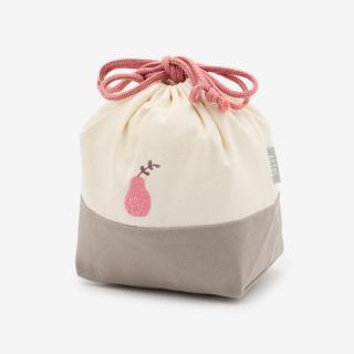 TINY ランチ巾着 フルーツ ピンク