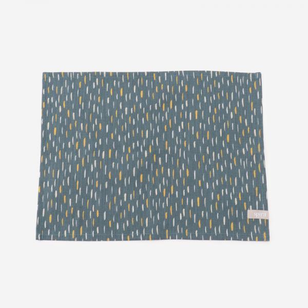 ART テーブルマット 42cm×32cm ブルー