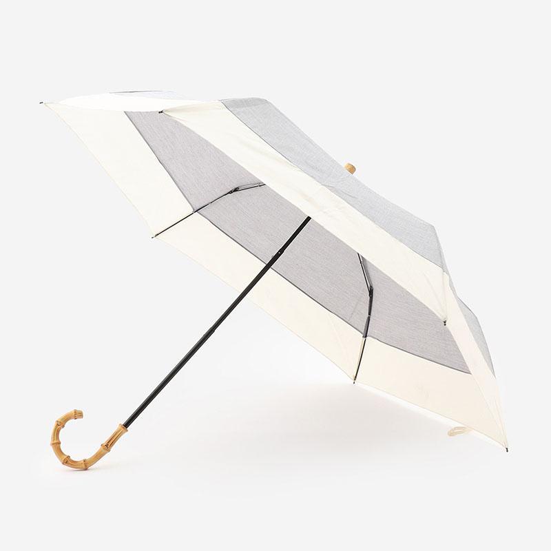 KIRSTEN UMBRELLA 晴雨兼用折り畳み傘 グレー