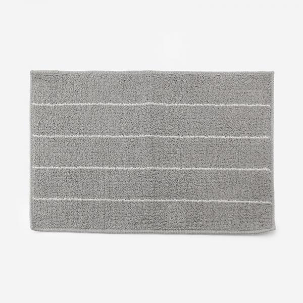 LINEN MIX キッチンマット 45×70cm グレー