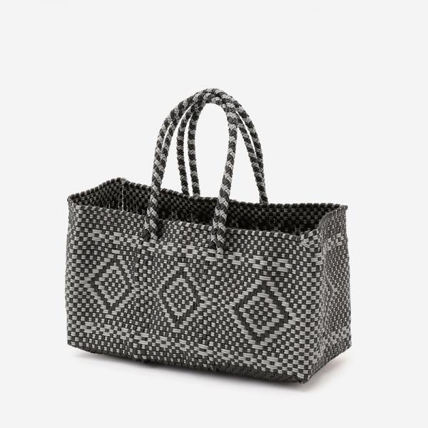 MERCADO BAG RECTANGLE ブラック/シルバー