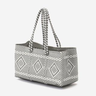 MERCADO BAG RECTANGLE シルバー/ホワイト