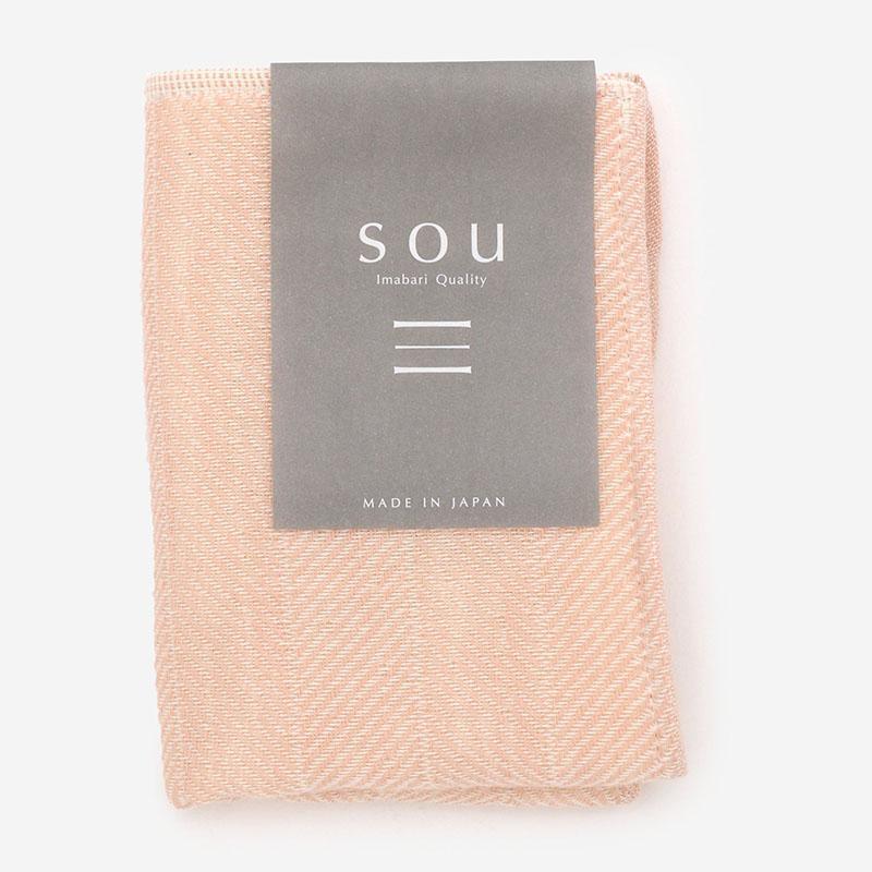 SOU タオルハンカチ 25×17cm  ピンク