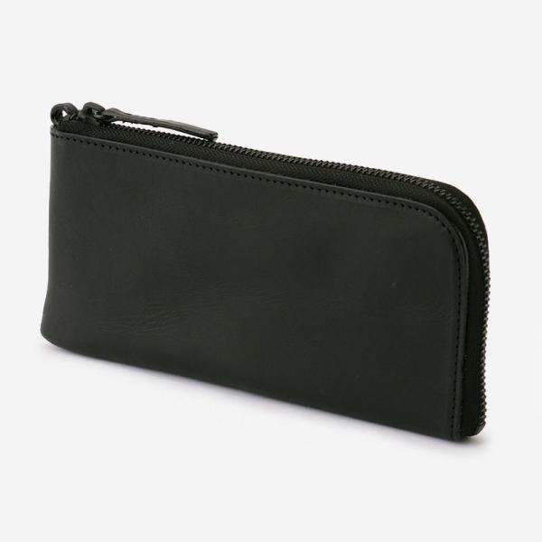 eauk LEATHER LONG WALLET BLACK