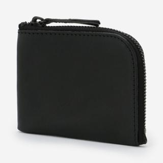 eauk LEATHER HALF WALLET BLACK