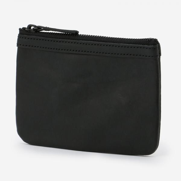 eauk LEATHER POUCH (S) BLACK