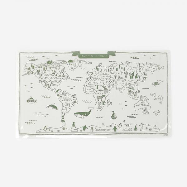 デスクマット 世界地図 80×47cm
