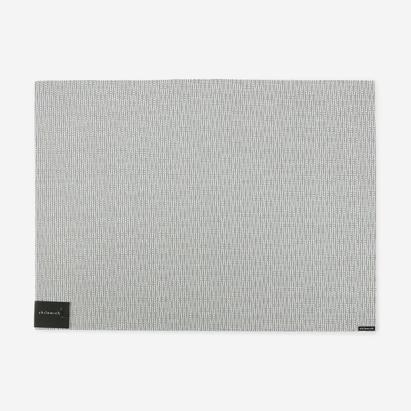 CHILEWICH テーブルマット WHISTLE  ICE 36×48cm  シルバー