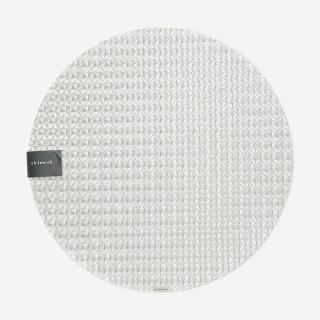 CHILEWICH テーブルマット ORIGAMI  ICE ROUND R38cm シルバー