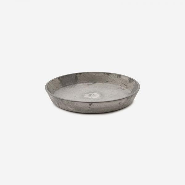 YAMATEI  アートストーンソーサー (直径14cm) グレー