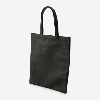 eauk LEATHER FLAT TOTEBAG BLACK