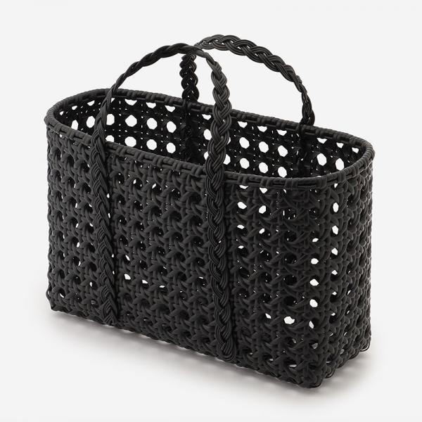 WOVEN BAG PERATTAN BLACK M