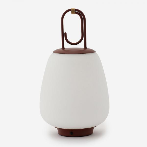 LUCCA TABLE LAMP MAROON