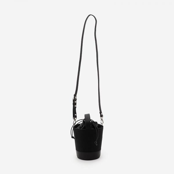 CaBas No.84 Round Bucket Bag S Black