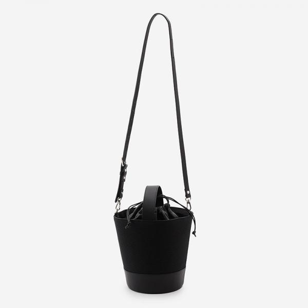 CaBas No.85 Round Bucket Bag M Black