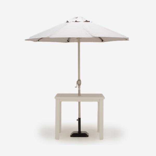 LUNA SQUARE TABLE &PARASOL GRAY