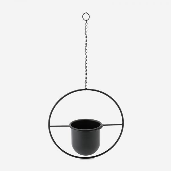 FARM ハンギングポット サークル (4号鉢) ブラック
