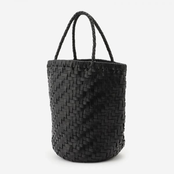 手編みレザーバッグ ブラック