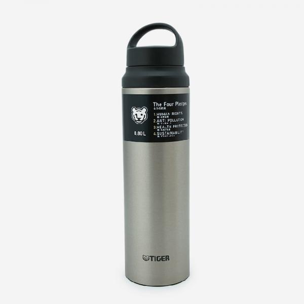 TIGER 真空断熱ステンレスボトル MCZ-S080 0.8L 抗菌加工せん チタニウムオーア