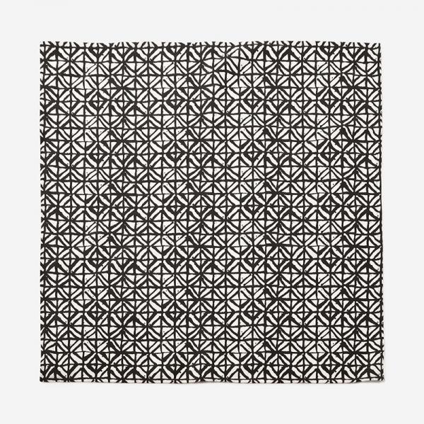 ハンドプリントテーブルリネン 90×90cm DIAMOND