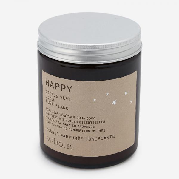 FARIBOLES キャンドル(140g)  HAPPY