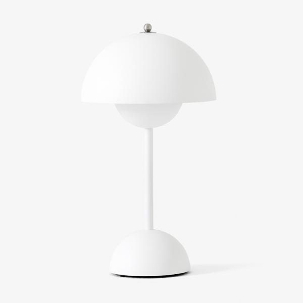 VP9 FLOWER POT POTABLE LAMP MAT WHITE