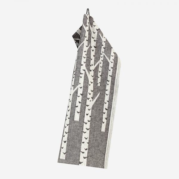 LAPUAN KANKURIT KOIVU towel 46×70cm black-white