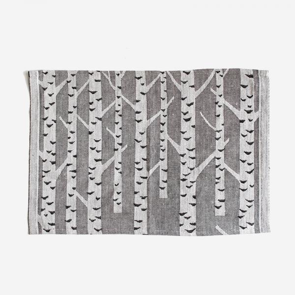 LAPUAN KANKURIT KOIVU placemat 46×32cm white-black