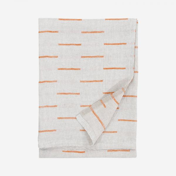 LAPUAN KANKURIT PAUSSI multi-use towel 95×180cm linen-rust